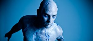 Blue Man bodypainting